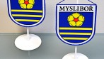Zakázková výroba stolních vlaječek pro obec, město, městys