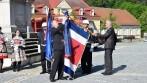 Žehnání vyšívané vlajky městyse Vranov nad Dyjí.