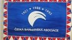 Slavnostní prapor vyhotovený pro Českou barmanskou asociaci
