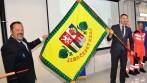 Slavnostní vyšívaný prapor zdravotnické záchranné služby Jihočeského kraje