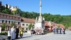 Slavnostní akt žehnání vlajky městyse Vranov nad Dyjí.