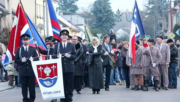 Slavnostní žehnání obecního znaku a praporu, obec Řečany nad Labem
