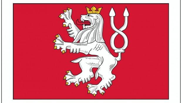 Nový vlajka městyse Karlštejn