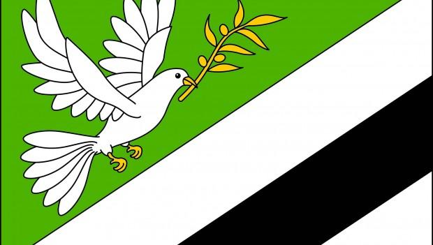 Vlajka obce Věstín