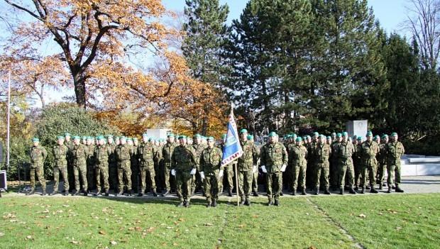 Vyšili jsme prapor pro rotu aktivních záloh Krajského vojenského velitelství Zlín